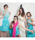 Hipster Bride Dress and Photo Booth Props