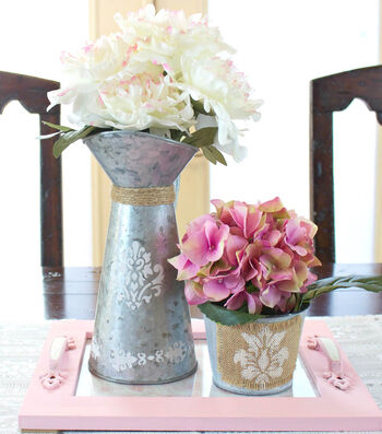How To Make A Spring Tray With Floral