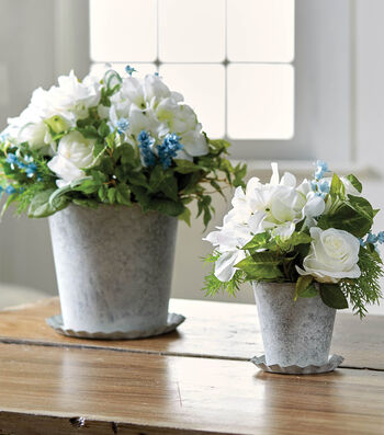 How To Make White Washed Metal Pots