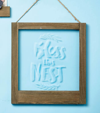 Make Bless This Nest Etched Window Art