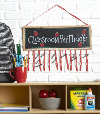 How To Make A Classrrom Birthdays Wall Décor