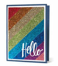 Glitter Paper Card - Hello