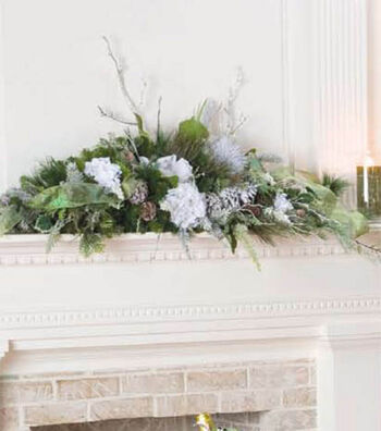 Graceful Mantelpiece Arrangement
