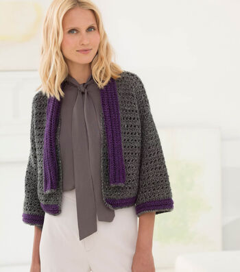 How to Crochet A Bette Bolero With Scarf