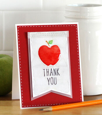 Apple Thank You Card