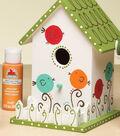 White Birdhouse with Birds