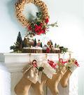 Burlap Wreath and Stockings