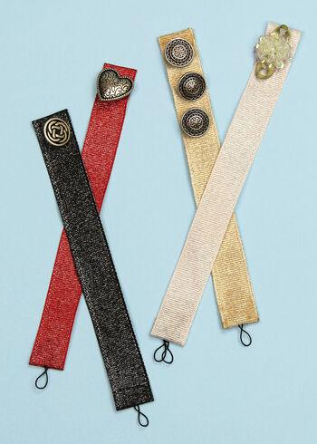 Offray Grosgrain Glitz Ribbon Bracelets