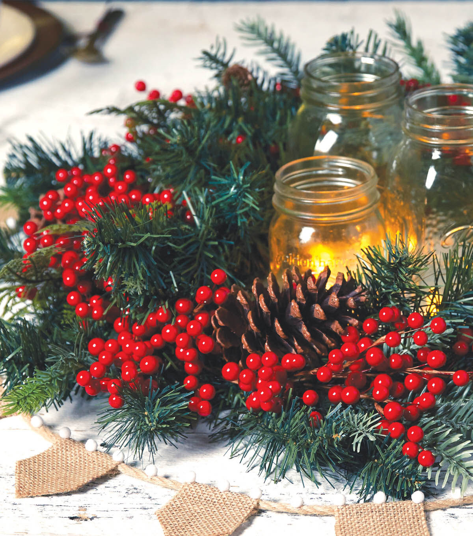 how to make a berry christmas garland