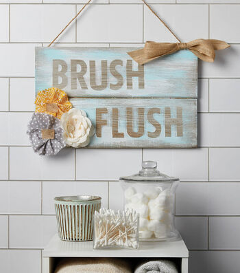 How To  Make A Stenciled Shabby Sign