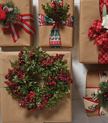 Wreath and Craft Paper Wrap