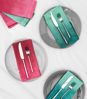 How To Make Dip Dyed Holiday Napkins