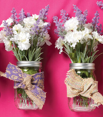 How To Make Burlap Mason Jar Floral Arrangements
