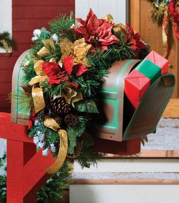 Christmas Mailbox Swag