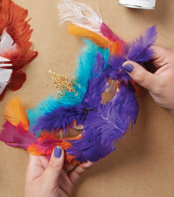How To Make A Bright Feather Mask