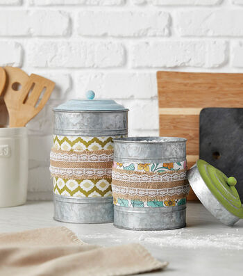 How To  Make Shabby Chic Canisters