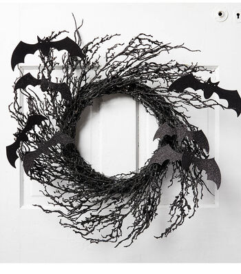 How To Make A Halloween Bat Wreath