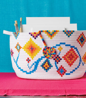 Make a Painted Coiled Basket