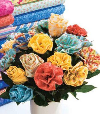 Calico Ruffle Flowers & Roses