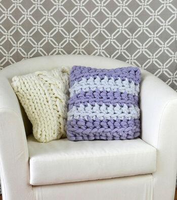 Make A Crochet Stripes Pillow