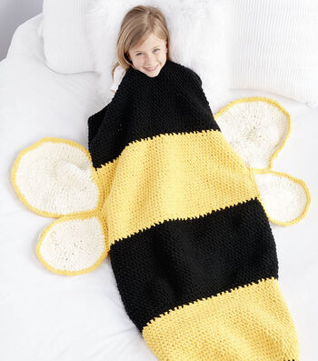 How To Make A Bumble Bee Crochet Snuggle Sack