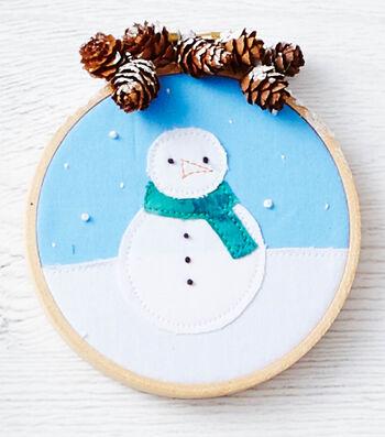 Fabric Hoop Ornaments