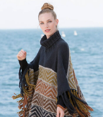 How To Make A Reverse Fair Isle Knit Poncho