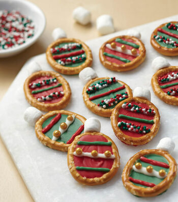 How to Make Christmas Ornament Candy Pretzel Rings