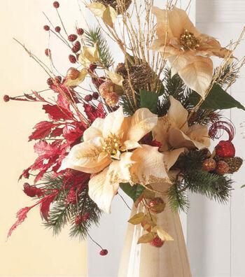Floral Arrangement in White Vase