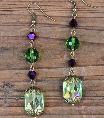 How to Make Mardi Gras Earrings