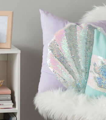 Make A Reversable Sequin Shell Pillow