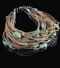 Stone and Hemp Bracelet