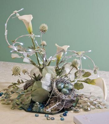 Lighted Lilies Centerpiece