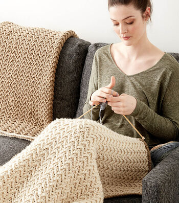 Make A Crochet Texture Lap Blanket
