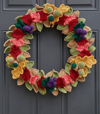 How To Crochet A Fall Crochet Leaves Wreath