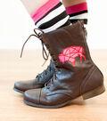 Red Glitter Iron On Buffalo Boots