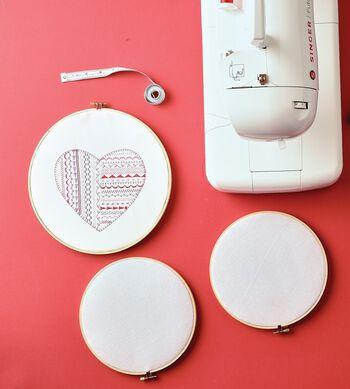 Machine Embroidered Heart