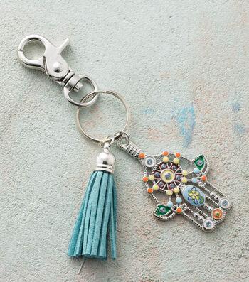 Make A Hamsa And Tassel Keychain