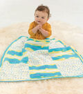 Bright Square Baby Blanket