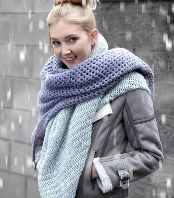 How To Make A Crochet Lace Blanket Scarf