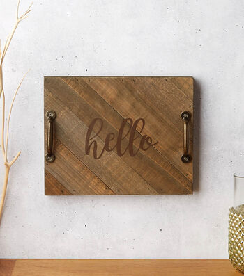 How to Make a Hello Pallet Tray