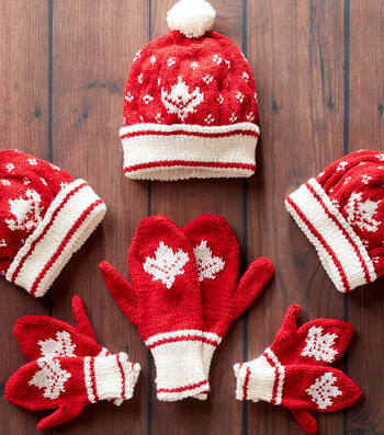How To Make Canada Knit Toque And Mittens