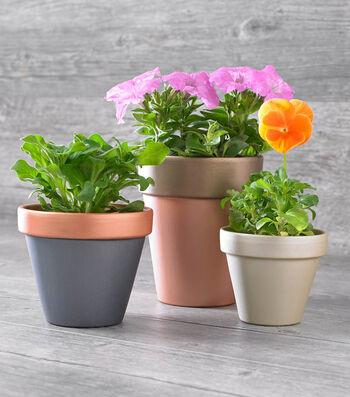 How To Make Brushed Metal Clay Pots