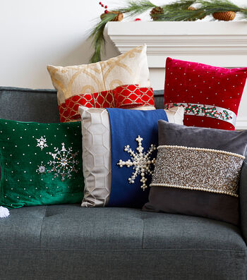 How to Embellish Holiday Pillows