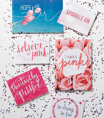 Pink Sharing Cards