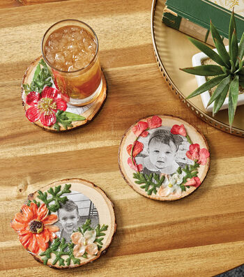 How To Make Pressed Flower Coasters For Mom