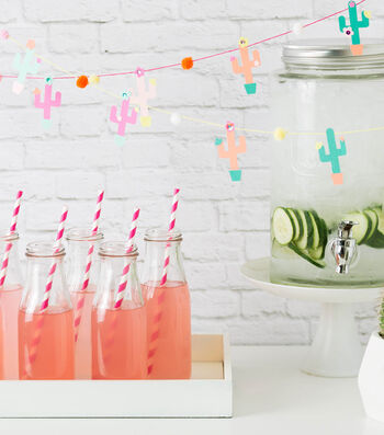 How To Make Colorful Cactus Garland