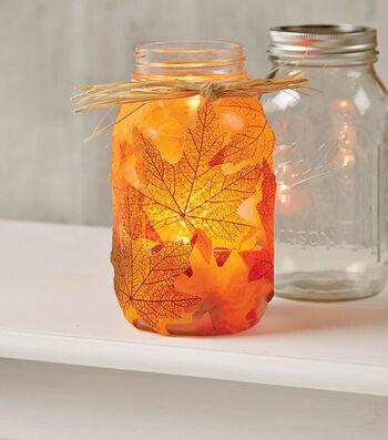Fall Leaves Jar