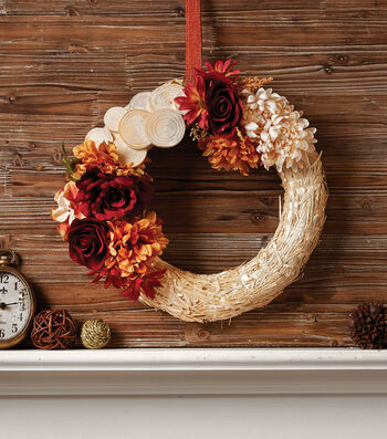 How To Make A Fall Straw Wreath