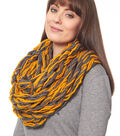 Yellow and Grey Arm Knit Cowl